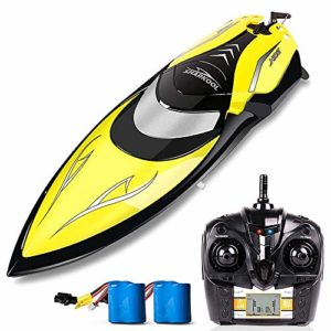 A long way-off Control Boats – SHARKOOL H106 Rc Self Righting Racing Boats For Boys & Women, 2.4Ghz Excessive Jog A long way-off Control Boat Toys for Children Or Adults. (Dark)