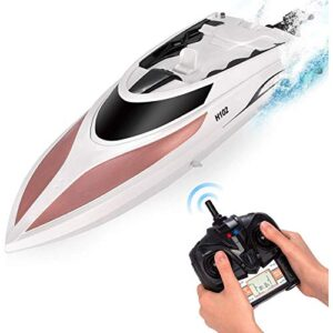 RC Boat – A long way-off Regulate Boat for Young folks and Adults – 20 MPH Pace – Durable Structure – Innovative Aspects – Unbelievable Waves – Pool or Lake – 4 Channel Racing – 2.4 GHz A long way-off Regulate – H102 Model