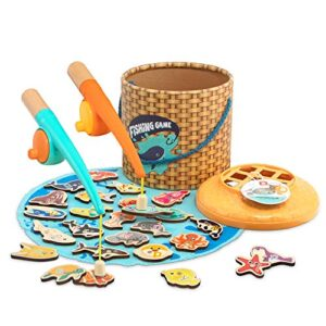 TOP BRIGHT Montessori Toddler Fishing Sport – Magnetic Toys Gifts for 2 3 Year Used Girl Boy,Birthday Gifts for Tutorial Learning, Easy Storage & Transportable Board Video games Wood Toy