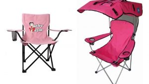 Pink Folding Camping Chairs