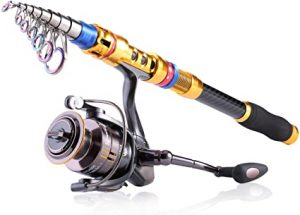 Sougayilang Spinning Telescopic Fishing Rods