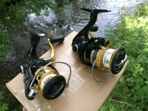 Shimano Sahara and Nasci top spinning reels