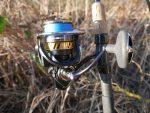 Daiwa Legalis LT fishing reel on rod