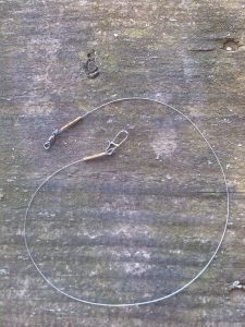 Steel leader spin fishing